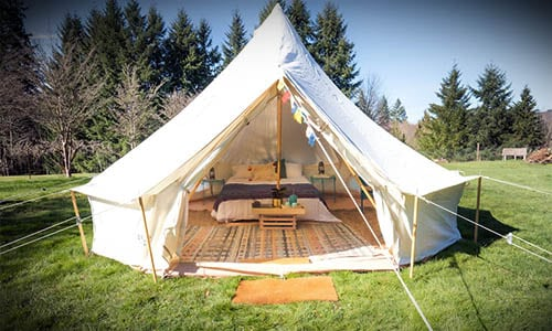 Bell Style Glamping Tent for Camping