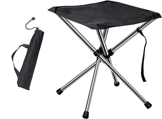 Best Camping Chair for Portability - Chiitek Foldable Stool