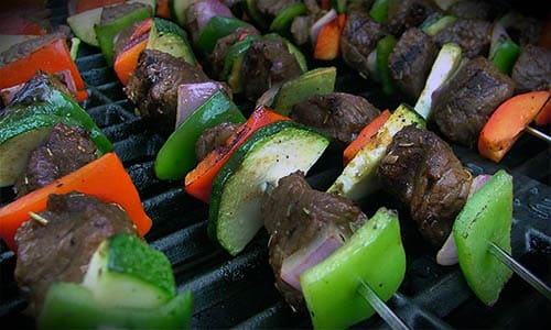 Beef and Vegetable Kabobs for Healthy Camping Meals
